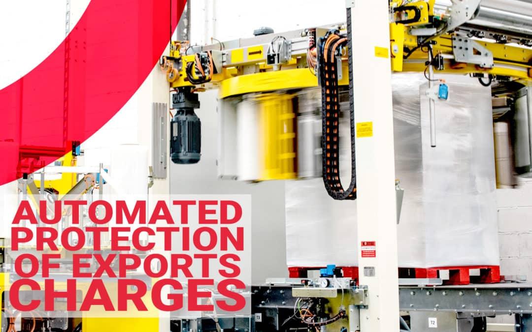 La protección de las cargas para la exportación totalmente automatizada.