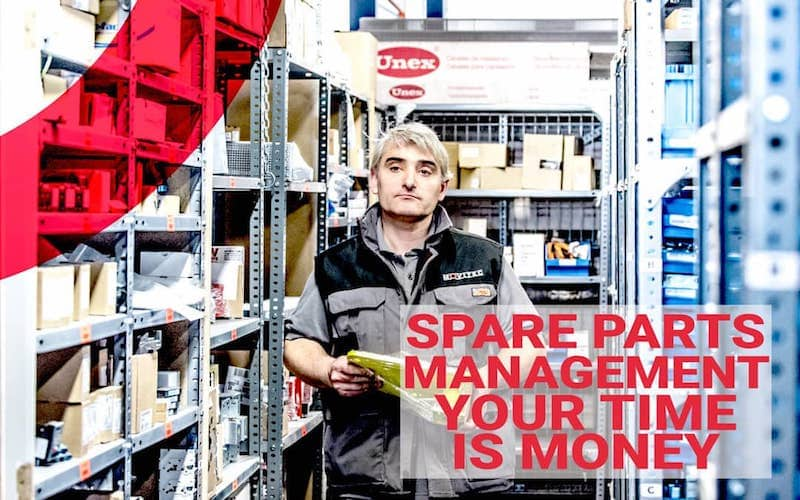 Spare parts management with guarantee of success.